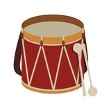 Parade drum icon image Stock Photos