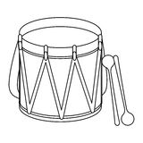 Parade drum icon image Royalty Free Stock Photo