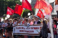 Parade eingeweiht dem 70. Jahrestag des Sieges von der Welt Stockfoto