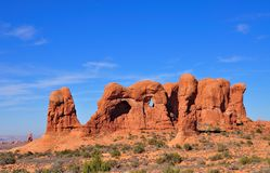 The parade of elephants, an arches formation in Arches Nationa Parkl Stock Images