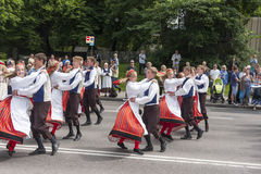 Parade of Estonian national song festival in Talli Royalty Free Stock Photography