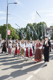 Parade of Estonian national song festival in Tallinn, Estonia Royalty Free Stock Photo