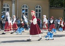 Parade of Estonian national song festival in Tallinn, Estonia Royalty Free Stock Photos