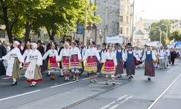 Parade of Estonian national song festival in Tallinn, Estonia Stock Photo