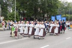 Parade of Estonian national song festival in Tallinn, Estonia Stock Photos