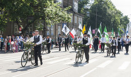 Parade of Estonian national song festival in Tallinn, Estonia Stock Photo