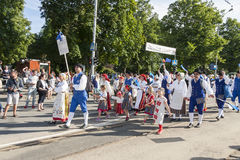Parade of Estonian national song festival in Tallinn, Estonia Stock Image