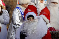 Parade of Father Frost and Snow Maidens Stock Photo