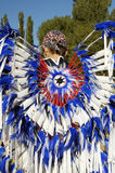 Parade feathers 2. Native American costume on display during a parade Stock Photos
