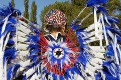 Parade feathers 3. Native American costume on display during a parade Stock Photography