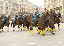 Parade of festival of military orchestras, Moscow Royalty Free Stock Photo