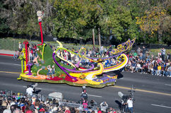 Parade float on Rose Parade Royalty Free Stock Photos