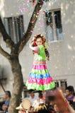 Parade of floats at the Cheung Chau Bun Festival Royalty Free Stock Photos