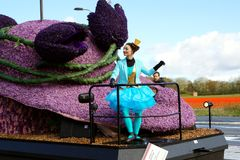 Parade of flowers. Flowers and fashion in Netherlands stock image