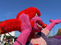Parade flowers. Many tourists come here every year to see the flower festival will be held in Holland Stock Photo