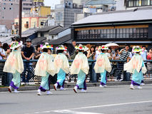 Parade of flowery girls at Gion festival, Kyoto Japan Royalty Free Stock Image