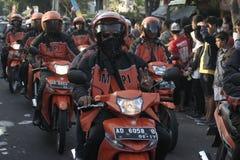 Parade followed entourage motorcycle lovers Sukoharjo Royalty Free Stock Images