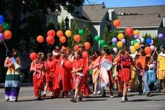 Parade Frankfort-, Michigan Stockbilder