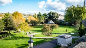 the Parade Garden in Bath England royalty free stock photography