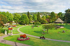 Parade Gardens. People enjoying a nice day out in Parade Gardens, Bath royalty free stock photos