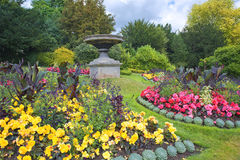 Parade Gardens in Bath, Somerset, England. Parade Gardens, park with lawns and flower beds in Bath, Somerset, England Stock Image