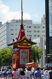 Parade of Gion festival, Kyoto Japan in July. Royalty Free Stock Photo