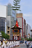 Parade of Gion festival, Kyoto Japan in summer. Picture of parade of Gion Matsuri festival, held in hot summer in Kyoto, every float has decorated with Stock Photos