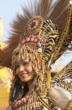 Parade girl with headdress. Picture of a Parade girl with headdress Stock Photography