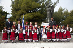 Parade in Greece Royalty Free Stock Photo