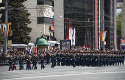 Parade in honor of the 70th anniversary of the Victory on May Stock Photo
