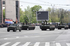 Parade in honor of the 70th anniversary of the Victory on May Stock Photos