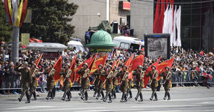 Parade in honor of the 70th anniversary of the Victory Stock Image