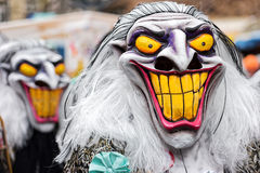 Parade of Horror Masks at Carnival of Basel (Basler Fasnacht) Royalty Free Stock Photo