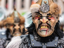 Parade of Horror Masks at Carnival of Basel (Basler Fasnacht) Stock Photos
