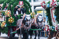 Parade of the hosts of the Wiesn royalty free stock images