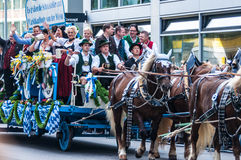 Parade of the hosts of the Wiesn Royalty Free Stock Image
