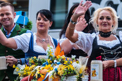Parade of the hosts of the Wiesn Stock Image