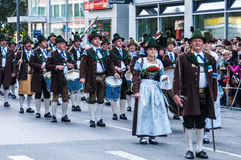 Parade of the hosts of the Wiesn Stock Images
