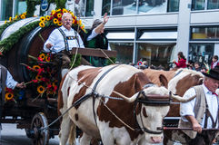 Parade of the hosts of the Wiesn Royalty Free Stock Photography