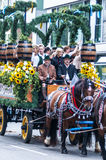 Parade of the hosts of the Wiesn Stock Photos