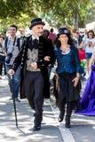 Parade im viktorianischen Kostüm Lizenzfreies Stockbild