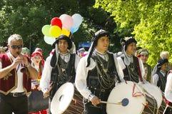 Parade at International folklore festival CIOFF 2016 Royalty Free Stock Image