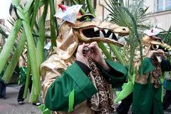 Parade, Karneval in Basel, die Schweiz Stockfotografie