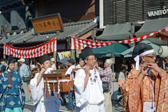 Parade during Kawagoe Festival Stock Images
