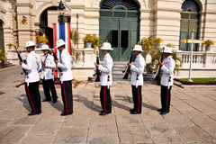 Parade of the kings Guards, Stock Photography