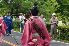 The parade of Kyoto Aoi festival, Japan. Royalty Free Stock Photography