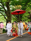 The parade of Kyoto Aoi festival, Japan. Royalty Free Stock Images
