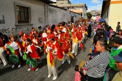 Parade during La Fiesta de la Mama Negra Stock Photo