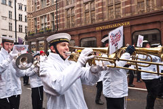 Parade London des neuen Jahres Tages. Stockbilder
