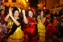 Parade through Macao, Latin City 2012 Stock Photo